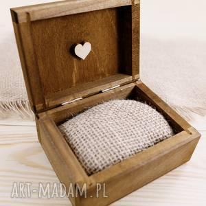 Pudełko na obrączki ślubne - motyw serca, ślub, pudełko-na-obrączki