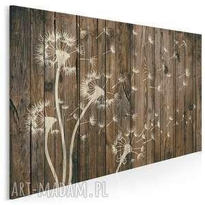obraz na płótnie - dmuchawce drewno 120x80 cm 35801, dmuchawce