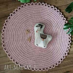 handmade pokoik dziecka dywan okrągły dziecięcy ze sznurka