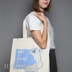 Torba bawełniana (średnia) Art isn t paint it s love, modigliani, zakupy, płótno
