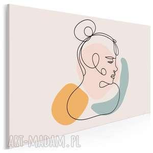 obraz na płótnie - minimalizm portret linie 120x80 cm 96302