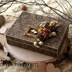 ślub pudełko na obrączki, pudełko, pamiątka