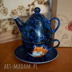 zestaw do herbaty - tea for one galaktyczne lisy, prezent dla niej