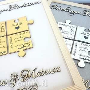 ślub podziękowania ślubne dla rodziców ramka 3d puzzle, podziękowanie rodzicom