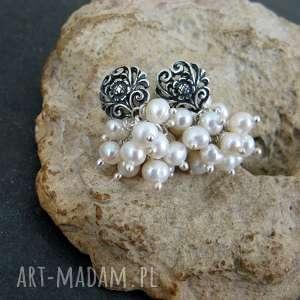 Kolczyki perły i bali, perły, grona