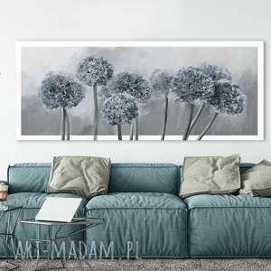 Obraz drukowany na płótnie - kwiaty czosnku w odcieniach