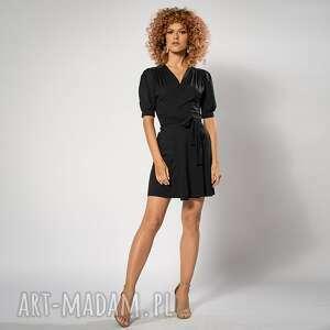 sukienki kelly black mini - sukienka, kobieca, mini, kopertowa