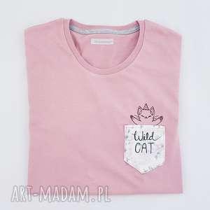 koszulki t-shirt wild cat l, kot, jednorożec, koszulka, unicorn, t-shirt, luźny
