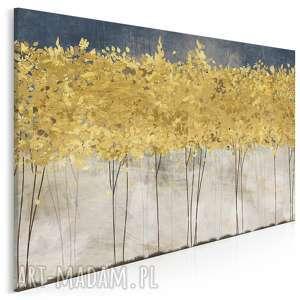 Obraz na płótnie - złote drzewa 120x80 cm 77101 vaku dsgn drzewa