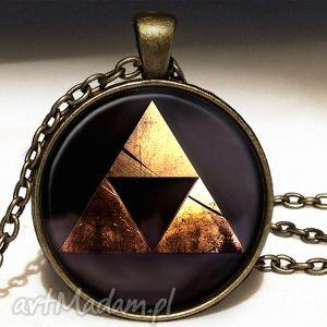 zelda triforce - medalion z łańcuszkiem - siła, naszyjnik
