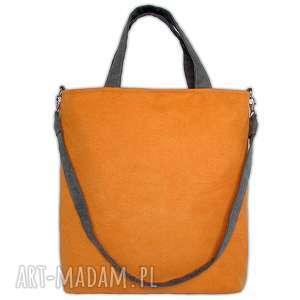 d202f8372603fe Na ramię pakowna codziennasprzedane torba na2 - duża na ramię a4  pomarańczowy szary, hobo, a4, miejska,