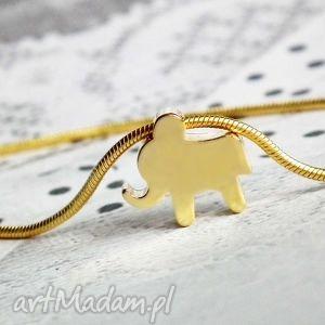 Prezent Bransoletka ze słonikiem złotym, złota, bransoletka, słonik, słoń, prezent