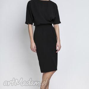 sukienki sukienka, suk123 czarny, ołówkowa, wyszczuplająca, kobieca, elegancki