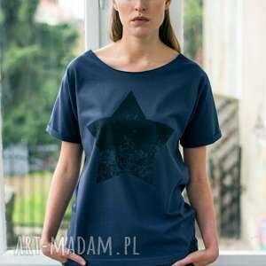 black star oversize t-shirt, oversize, tshirt, grafit, bawełna, moda, casual ubrania