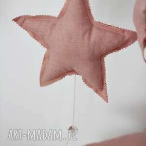 pokoik dziecka zawieszka 23x23cm, zawieszka, lniana, gwiazda, gwiazdka dla