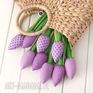 dekoracje tulipany wrzosowy bawełniany bukiet, skandynawski styl, hygge