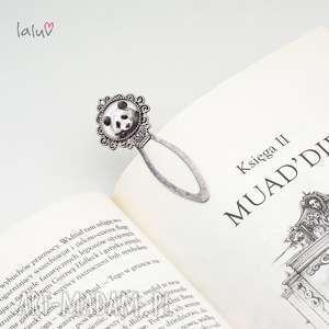 zakładka do książki panda, prezent, książka, puszysta, słodka, czarno, biała