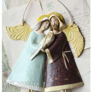 oryginalny prezent, wylegarnia pomyslow święta rodzina, ceramika, maria, józef