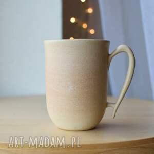 kubek ceramiczny ciepły piasek 325ml, piaskowy, kubek, ceramika