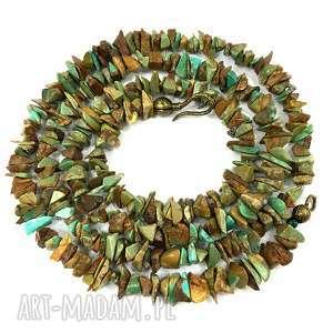 naszyjnik naturalny turkus meksykański, naszyjnik, korale, naturalny
