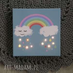 Prezent ŚWIECĄCY obraz TĘCZA prezent dziecko dekoracja lampka nocna personalizacja