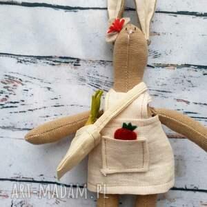 mały królik z warzywami zestaw do zabawy, mała, motoryka eko, szmacianka