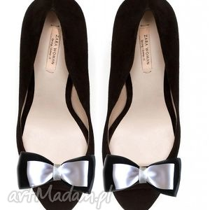 black or white - klipsy do butów, kokardy, ozdoby, klipsy, spinki, buty