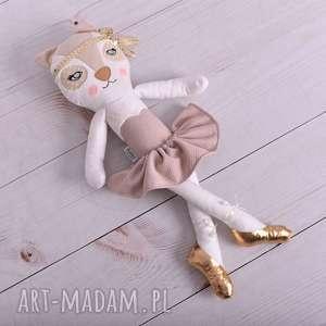 dla dziecka przytulanka dziecięca kot w złotych baletkach, poduszka-kot