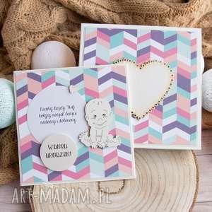 kartki wyjątkowa kartka w pudełeczku z okazji roczku, urodzin dla maleństwa