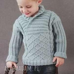 sweterek arles, sweterek, wełniany, prezent, ciepły, dziergany, chłopięcy