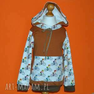 rowery bawełniane bluza z kapturem, dziecięca kieszenią, rozmiary 68-128