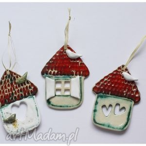 ceramika domki ceramiczne iii, domek, ptak, dom