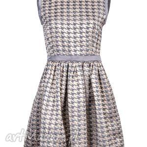 sukienka złoto-srebrna be a star dress, sukienka, rozkloszowana, kieszenie