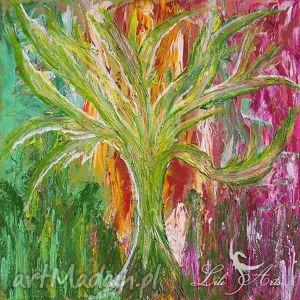 Obraz energetyzujący - Drzewo akrylowy akryl na płótnie, obraz, malowany