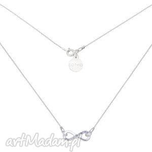 Srebrny naszyjnik z nieskończonością z kryształkami