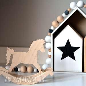 Konik na biegunach, konik, koń, zwierzęta, drewniany, domki