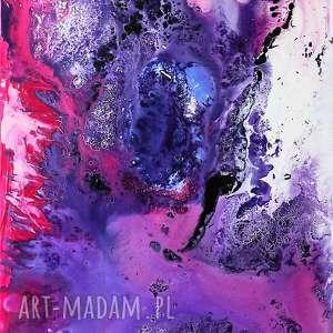 WEWNĄTRZ RÓŻOWEJ MGŁAWICY obraz akrylowy na płótnie 100x70cm artystki Adriany Laube