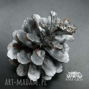 Akwamaryn w koronkach anna grys akwamaryn, pierścionek, srebrny