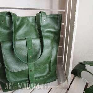 na ramię zielona peggy sue-skóra pull up, skórzana torba, torebka