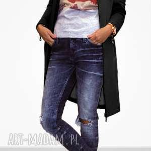długa czarna bluza damska rozpinana, zip, na zamek, maxi, styl miejski