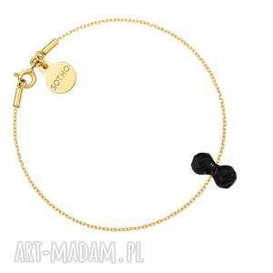 Złota bransoletka z kryształowym ciężarkiem SWAROVSKI® CRYSTAL