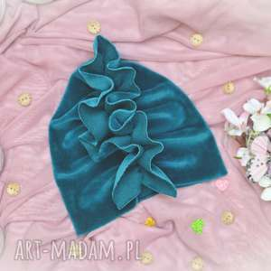 oryginalne prezenty, honsiumisiu turban velvet szmaragd, turbanvelvet
