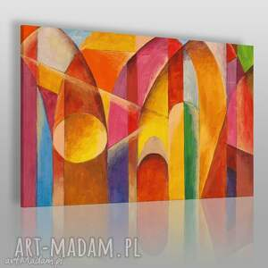 obraz na płótnie - abstrakcja katedra 120x80 cm 15101 , katedra, artystyczny