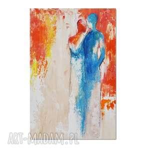 lean on me 2, nowoczesny obraz ręcznie malowany