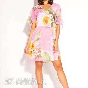 sukienka polla, pastelowa, zwiewna, luźna, romantyczna, kolorowa, letnia
