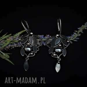 jachyra jewellery owoc czarego bzu, hematyt, natura, kobiece, secesja, fantasy