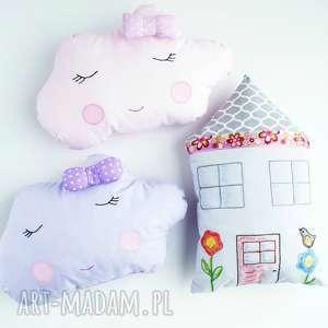 komplet - poduszka chmurka i domek, poduszka, chmurka, dziecko, pościel