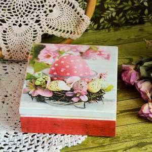 Pudełko drewniane - wielkanocne jajko pudełka maly koziolek