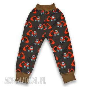 bambi koparki brązowe spodnie z bawełnianej dresówki dla chłopca, rozmiary