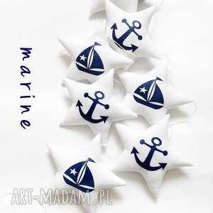marine - girlanda - gwiadka, gwiazdki, marine, kotwica, łódka